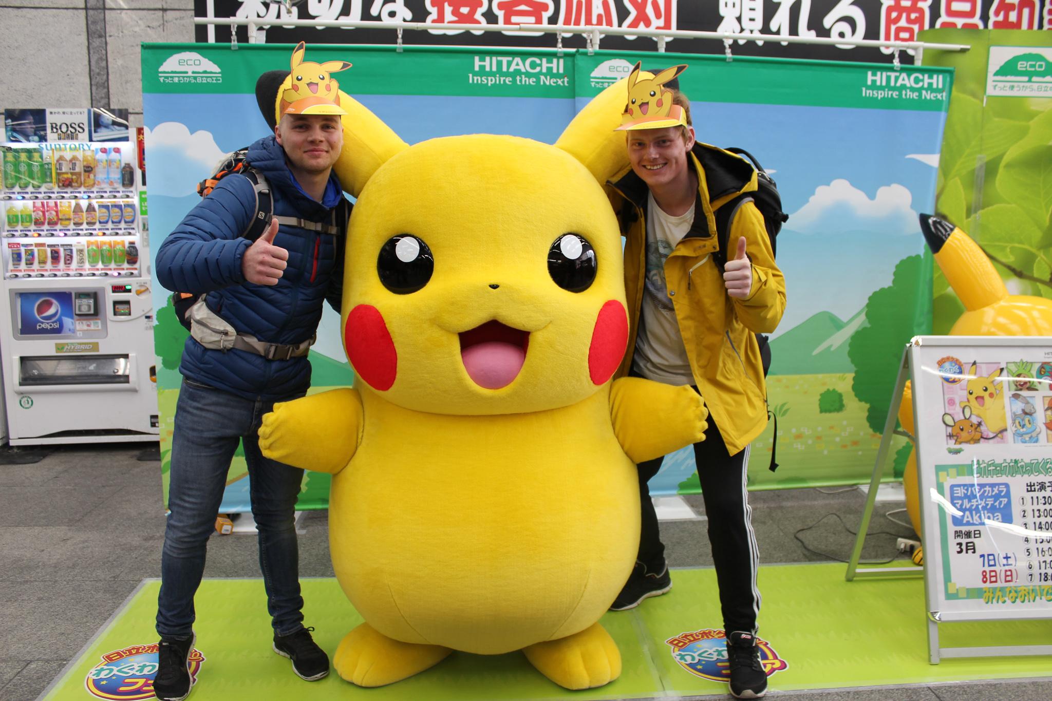Besök hos Pikachu under Snowminds kurs