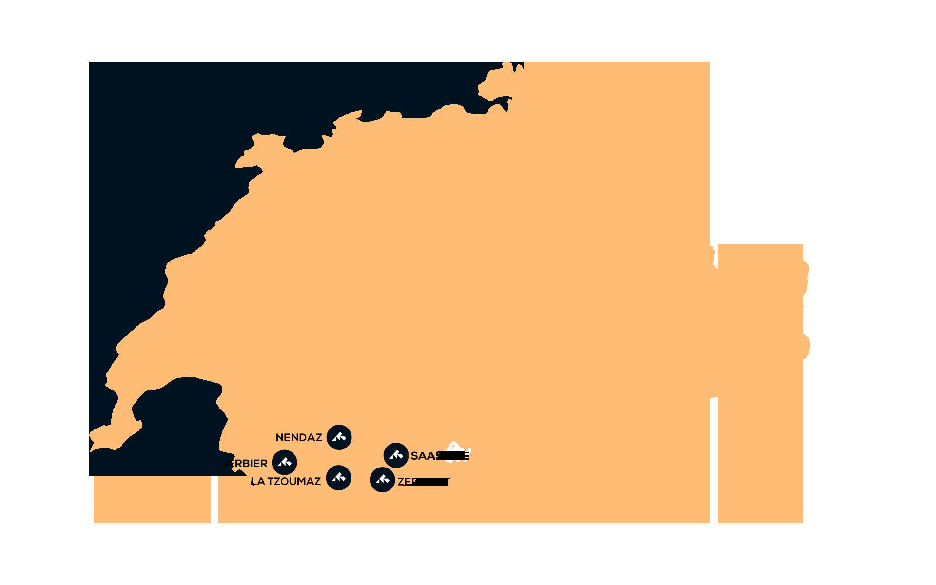 Snowminds destinationer i Schweiz